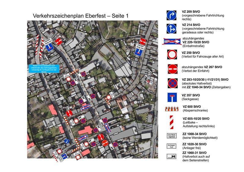 Verkehrszeichenplan Eberfest 2019